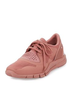 adidas by Stella McCartney Alayta Neoprene Low-Top Sneaker, Plaster Pink