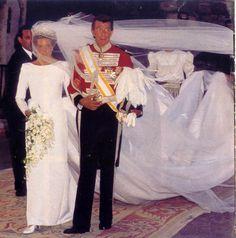 Simoneta Gomez-Acebo y Borbon y su padre Luis Gomez-Acebo y Duque de Estrada