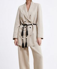 Zara Blazer, Duster Coat, Jackets, Fashion, Dress, Down Jackets, Moda, Fashion Styles, Fashion Illustrations