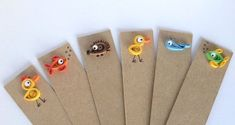 Hey, I found this really awesome Etsy listing at https://www.etsy.com/listing/112700612/quilled-bookmarks-set-of-4-animals-fish