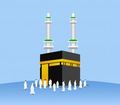 Muslims pilgrimage praying god with kaaba, masjid al-haram Wine Wallpaper, Fairy Wallpaper, Hippie Wallpaper, Wallpaper Backgrounds, Islamic Images, Islamic Pictures, Flyer And Poster Design, Islamic Cartoon, Islamic Posters