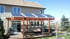 Solar awnings for the Adaska residence in Colorado.