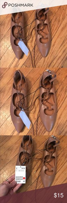 H&M Lace Up Flats New with tags, size 6 H&M Shoes Flats & Loafers