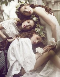 Romance, beauty, floral, garden, whimsical, Wood Nymphs