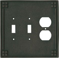 Allen roth 3 gang white decorator rocker wood wall plate for Arts and crafts outlet covers