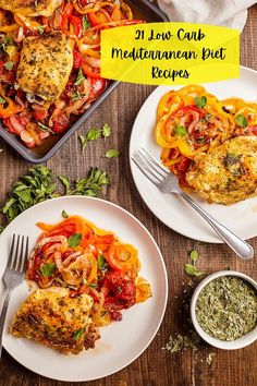 More and more studies are showing the benefits of eating higher fat, especially in the form of extra virgin olive oil.  Even more recently, low carb, high fat diets have been shown to be beneficial for weight loss, heart disease, type 2 diabetes as well as reduction of blood pressure and triglycerides.  Here are 21 of our tastiest low carb Mediterranean Diet recipes. Best Healthy Diet, Healthy Diet Plans, Diet Meal Plans, Healthy Eating, Low Fat Diets, High Fat Diet, No Carb Diets, Mediterranean Diet Meal Plan, Mediterranean Recipes