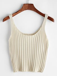 Shop Ribbed Knitted Cami Top online. SheIn offers Ribbed Knitted Cami Top & more to fit your fashionable needs.