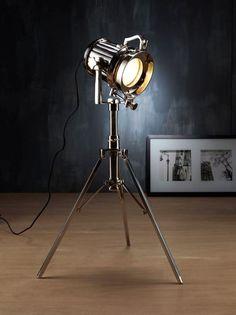 Steel Spotlight from Zaffero Pty Ltd Spot Light, Desk Lamp, Table Lamps, Home Lighting, Fairy Lights, Flooring, Steel, Interior Design, Floor Lamps