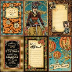 """The front page of """"Vintage Voyage"""" from our new mid-release collection, Steampunk Spells! #graphic45 #halloween #steampunk #sneakpeeks"""