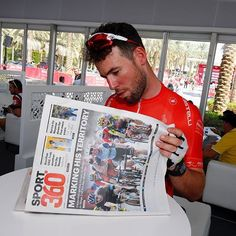 Mark Cavendish St 3 Abu Dhabi Tour 2016 What do you do before cycling for 150km in 35-degree weather? / sport360