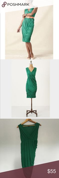 Anthropologie Emerald Wicklow Dress by Deletta MED Anthropologie Emerrald Wicklow Dress by Deletta. Medium. Perfect condition. No flaws. Anthropologie Dresses