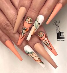 Nail art Christmas - the festive spirit on the nails. Over 70 creative ideas and tutorials - My Nails Ongles Bling Bling, Bling Nails, Marble Nail Designs, Marble Nail Art, Fall Nail Designs, Best Acrylic Nails, Summer Acrylic Nails, Nail Swag, Perfect Nails