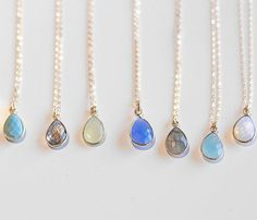 Small Stone Pendants » Which one to choose? They are all so pretty.