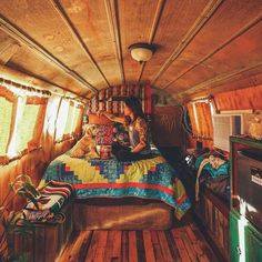 Bohemian Lifestyle and Style Fashion - bohemfash Bus Living, Tiny House Living, Van Life, Motorhome, Kombi Home, Bus House, Campervan Interior, Camper Life, Campers