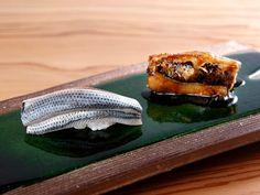 鮨一筋38年の熟練技が光る! 日本料理の名店『なだ万』出身の職人が開いた『銀座 聖起』の鮨は劇的なおいしさです♪ Desserts, Food, Tailgate Desserts, Deserts, Essen, Postres, Meals, Dessert, Yemek