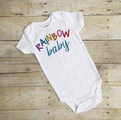 Baby boy girl glitter bodysuit rainbow baby down syndrome trisomy