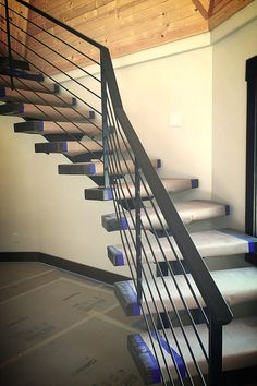 Steel stair stringers are a striking alternative to traditional staircases. Offers that open look and provides a lifetime of strength.