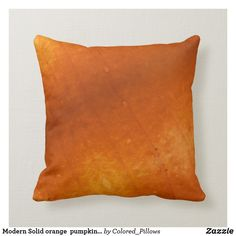 Shop Modern Solid orange pumpkin orange pillow created by Colored_Pillows. Beach Dorm, Orange Pillows, Cedar Rapids, Orange Beach, Custom Pillows, Pumpkin, Throw Pillows, Interior Design, Modern