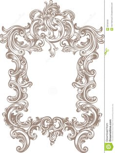 Frame Baroque Stock Photo - Image: 33159100