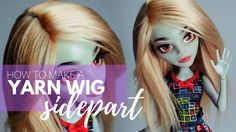 How to Make a Doll Yarn Wig: Sidepart