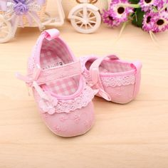 2013 Summer New Non slip Newborn Baby Toddler Shoes Pink Color Cotton Infant Girls Best Shoes