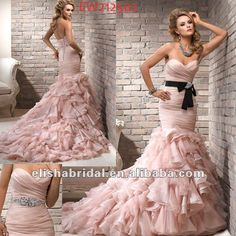 wedding dress with tiered ruching - Google Search