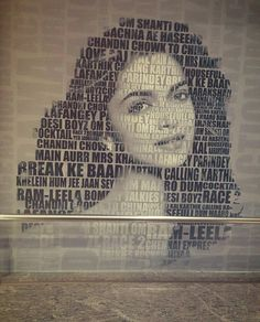 Deepika and her movies❤️ This soo cute!! It says all her movies in that picture!!I love it!  ღFollow •Bollywood Freak• ツ for more bollywood posts! ღ