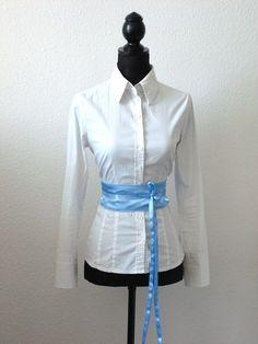 Taillengürtel Schärpe hellblau von lucylique - Mode und Accessoires made in Leipzig auf DaWanda.com