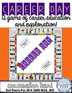 Career Day: A Board Game of Career Education and Exploration! (scheduled via… Elementary School Counseling, Career Counseling, Career Education, School Counselor, Elementary Schools, Importance Of Time Management, Time Management Skills, Career Day, Career Advice