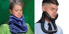 Bizarre neck contraption lets you sleep upright. Doesn't that look comfortable?