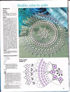 Trendy Crochet Mandala Diagram English Ideas You are in the right place about Crochet fashion Here we offer you the most beautiful pictures about the. Crochet Doily Diagram, Crochet Doily Patterns, Thread Crochet, Filet Crochet, Crochet Motif, Crochet Stitches, Tatting Patterns, Crochet Baby Pants, Crochet Dreamcatcher