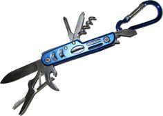 Mini Survival Kit Multitool Überlebensmesser Taschenmesser mit Zange, Flaschenöffner, Kreuzschraubenzieher und Karabinerhaken