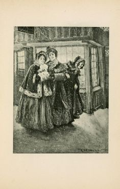 Illustration from: A Christmas Carol by Charles Dickens; Illustrated by Frederick Simpson Coburn; New York: Putnam, 1900. #Illustration #CharlesDickens #Vintage #Books