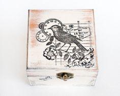 Beige Caja Caja decorativa Portador Del Anillo De Madera porciones MyHouseOfDreams