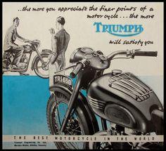#triumph motorcycle#vintage ad