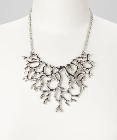 Another great find on #zulily! ZAD Silver Coral Branch Bib Necklace by ZAD #zulilyfinds