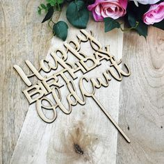 CLEARANCE! 1 ONLY TIMBER Happy Birthday Old Cunt Birthday Cake Birthday Cake Topper Cake Decoration Cake Decorating Happy Birthday Rude Cake