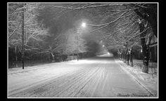 Snow... night... road...Armenia