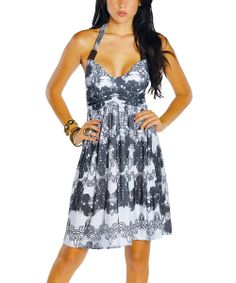 White Halter Dress   Daily deals for moms, babies and kids