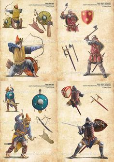 medieval Hungarian soldiers