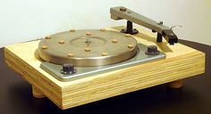 Customized Lafayette rim drive turntable with Gray Research tonearm. Customized plywood base and felt dot pattern was supposed to be better than felt or rubber mat and fiberboard base usually supplied with the turntable.