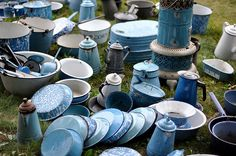 Blue swirl enamelware ... oh swoon!