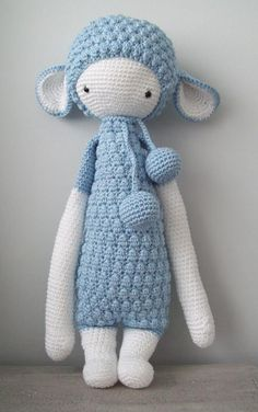 LUPO the lamb made by Karina V. / crochet pattern by lalylala