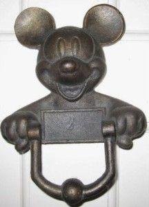 Image detail for -Vintage Mickey Mouse Cast Iron Door Knocker (RARE) For Sale Casa Disney, Disney Rooms, Disney House, Disney Mickey, Door Knobs And Knockers, Knobs And Handles, Door Handles, Mickey Mouse House, Vintage Mickey Mouse