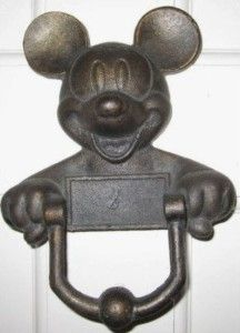 Image detail for -Vintage Mickey Mouse Cast Iron Door Knocker (RARE) For Sale | Shop ...