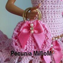 DIY - Tutorial - Passo a Passo - PAP Bolsinha de Crochê Para Bonecas Bag For Dolls Com Pecunia MillioM
