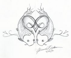 pisces love   me 3-5  my hubby 3-17   If I had a tat, this would be it : )