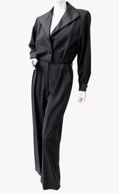 83f73ea8911 Yves Saint Laurent Jumpsuit Black Tuxedo Le Smoking YSL Rive Gauche 90s New  40 #YvesSaintLaurent