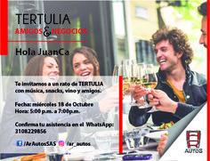 Invitación a Tertulia AR Autos CAMPAÑA FIDELIZACIÓN DE CLIENTES