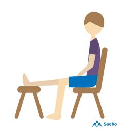 Sit facing a chair, bed, or other stable object that is the same height as your wheelchair. Place one leg on the object, keeping your knee straight. Do not bend forward as it will stretch your leg too much. Simply hold the position, alternating legs. Occupational Therapy, Physical Therapy, Seated Hamstring Stretch, Knee Exercises, Stretches, Stroke Recovery, Spinal Cord Injury, Muscle Spasms, Cerebral Palsy